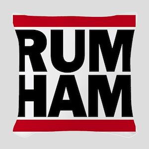 Rum Ham DMC_light Woven Throw Pillow