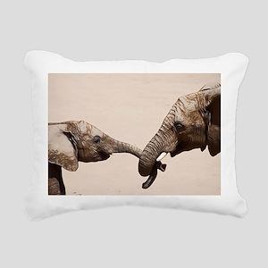 Mother Daughter Love Rectangular Canvas Pillow