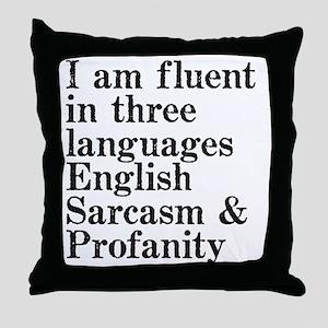 fluent Throw Pillow