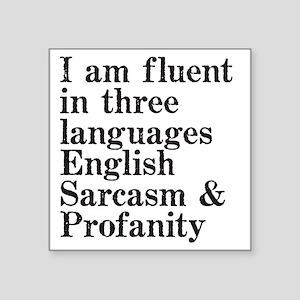 "fluent Square Sticker 3"" x 3"""