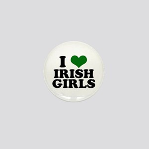 I Love Irish Girls Green Mini Button