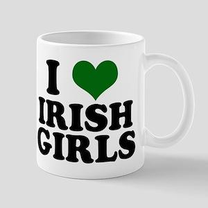 I Love Irish Girls Green Mug