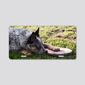 Sleeping Cattle Dog Aluminum License Plate