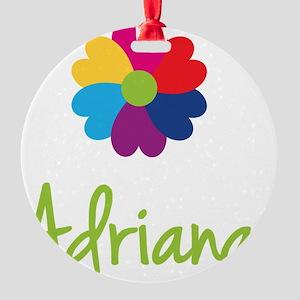 Adriana-Heart-Flower Round Ornament