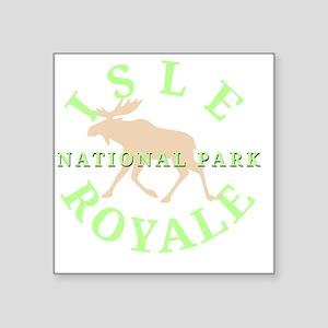 "isleroyalenationalpark-whit Square Sticker 3"" x 3"""