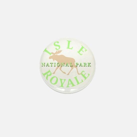 isleroyalenationalpark-white Mini Button