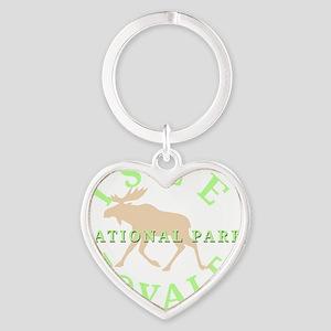 isleroyalenationalpark-white Heart Keychain