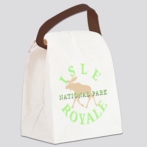 isleroyalenationalpark-white Canvas Lunch Bag