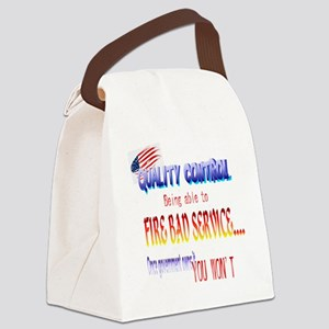 Quality Control Trans Canvas Lunch Bag