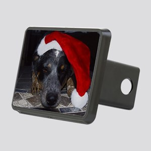 Christmas Cattle Dog Rectangular Hitch Cover