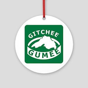 Gitchee Gumee Round Ornament