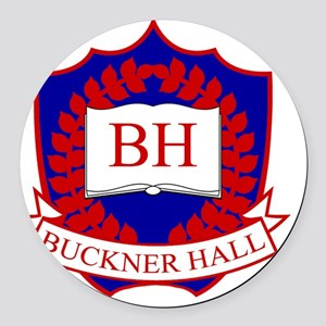 Buckner-Blue-Red-Smaller Round Car Magnet