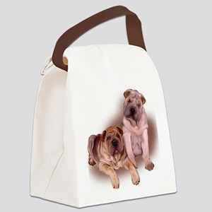 two sharpeis Canvas Lunch Bag