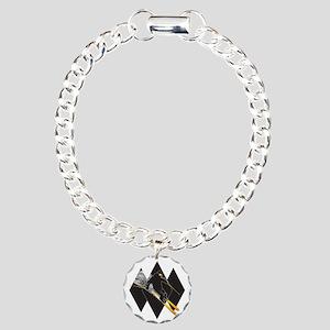 black diamond dude Charm Bracelet, One Charm