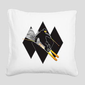 black diamond dude Square Canvas Pillow