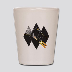 black diamond dude Shot Glass