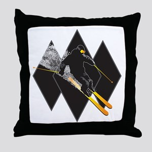 black diamond dude Throw Pillow