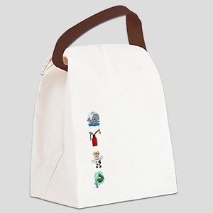 Irish Accent Wht Canvas Lunch Bag
