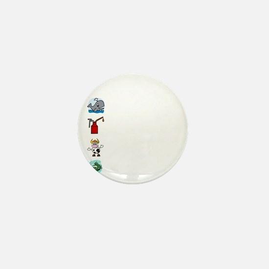 Irish Accent Wht Mini Button