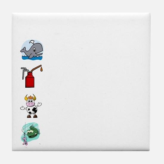 Irish Accent Wht Tile Coaster