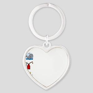 Irish Accent Wht Heart Keychain