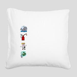 Irish Accent Wht Square Canvas Pillow