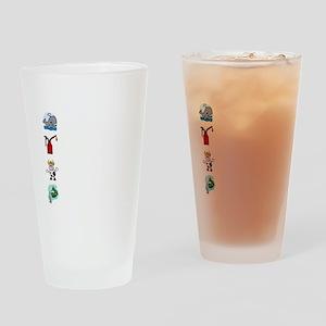 Irish Accent Wht Drinking Glass