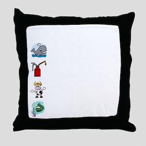 Irish Accent Wht Throw Pillow