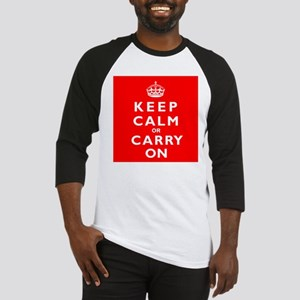 KEEP CALM or CARRY ON wr Baseball Jersey
