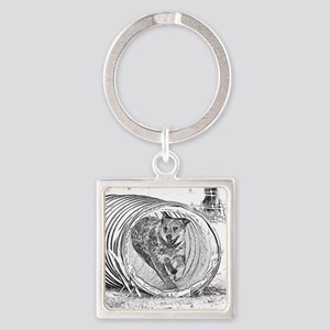 Tunnel Love Square Keychain