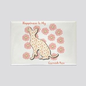 Rex Happiness Rectangle Magnet
