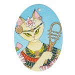 Bastet Oval Ornament