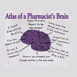 Atlas of a Pharmacists Brain 3 Throw Blanket