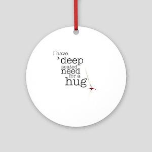hug Round Ornament