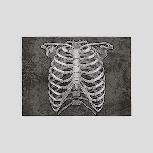ribcage-grey_21x18hd 5'x7'Area Rug