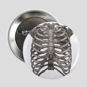 """ribcage_grey 2.25"""" Button"""