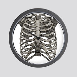 ribcage_grey Wall Clock