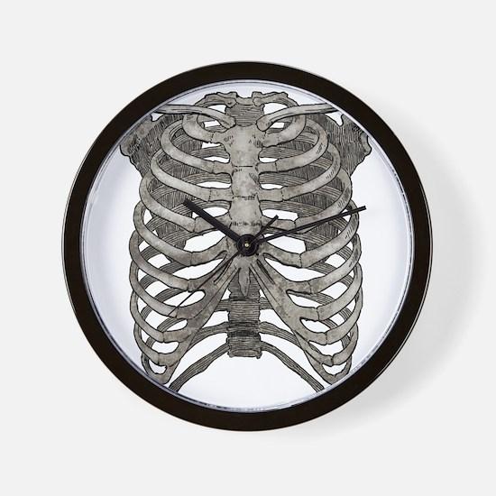 ribcage_grey Wall Clock