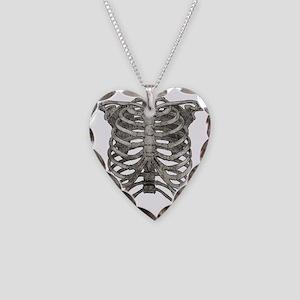 ribcage_grey Necklace Heart Charm