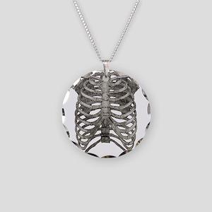 ribcage_grey Necklace Circle Charm
