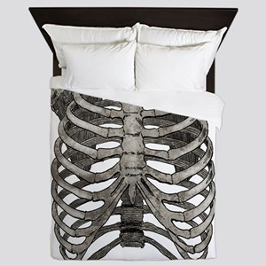ribcage_grey Queen Duvet
