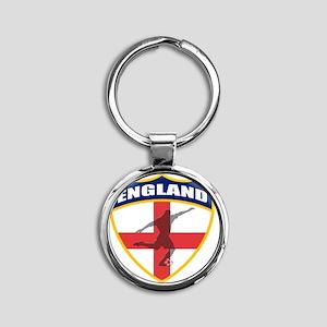 england Round Keychain