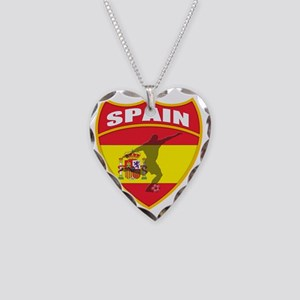 spain Necklace Heart Charm