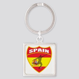 spain Square Keychain