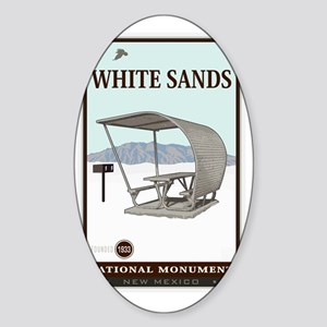 White Sands 4 Sticker (Oval)