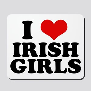 I Heart Irish Girls Red Mousepad