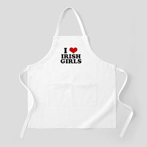 I Heart Irish Girls Red BBQ Apron