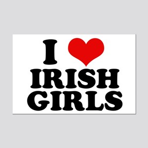 I Heart Irish Girls Red Mini Poster Print