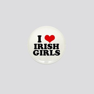 I Heart Irish Girls Red Mini Button