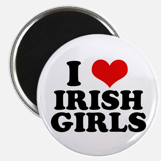 """I Heart Irish Girls Red 2.25"""" Magnet (10 pack)"""